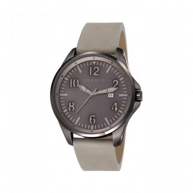 Мъжки часовник Esprit със сива каишка от естествена кожа