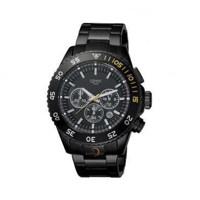 Мъжки часовник Esprit черен браслет кварцов хронограф