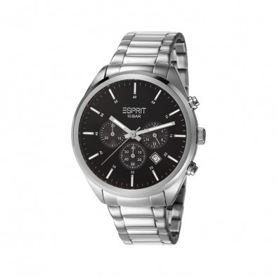 Мъжки часовник Esprit сребрист браслет с бели индекси