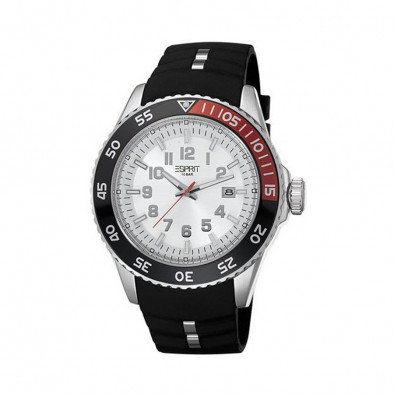 Мъжки часовник Esprit черен с двуцветен ринг на касата