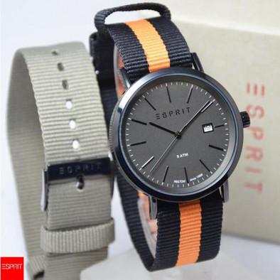 Мъжки часовник Esprit с оранжево-черна текстилна каишка ES108361001 2