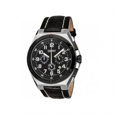 Мъжки часовник Esprit черен с малък секундарник