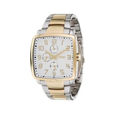 Мъжки часовник Esprit сребрист браслет с квадратен циферблат