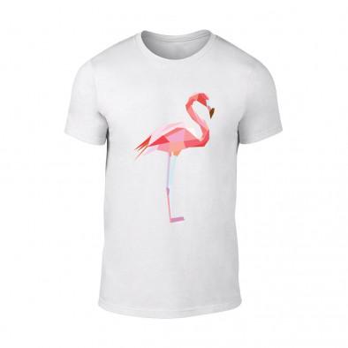 Мъжка бяла тениска Flamingo TMN-M-189 2