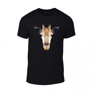 Мъжка черна тениска Giraffe TMN-M-192 2