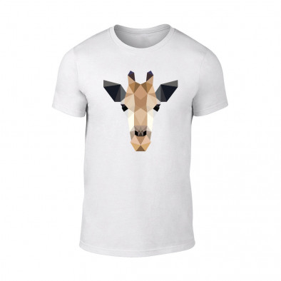 Мъжка бяла тениска Giraffe TMN-M-191 2