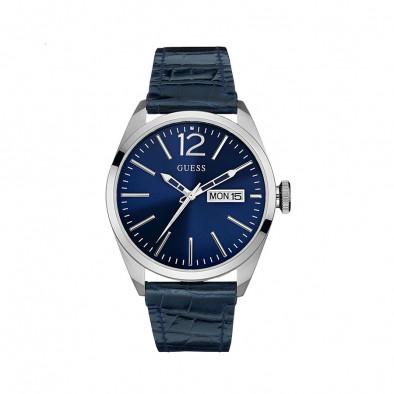 Мъжки часовник Guess със син циферблат и синя каишка