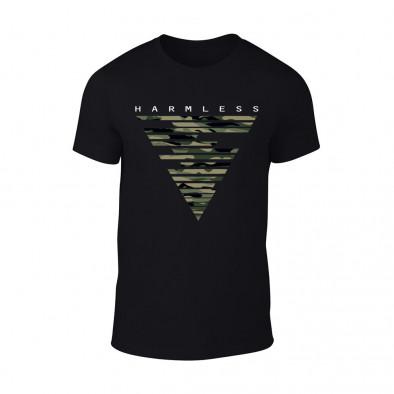Мъжка черна тениска Harmless TMN-M-088 2