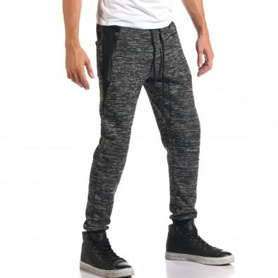 Мъжки тъмно сиви потури с ципове на джобовете it160916-46 4