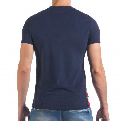 Мъжка синя тениска с Американското знаме Just Relax 4