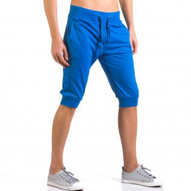 Мъжки сини къси потури класически модел it160316-16 4