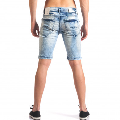 Мъжки къси дънкови панталони светло сини Justing 5