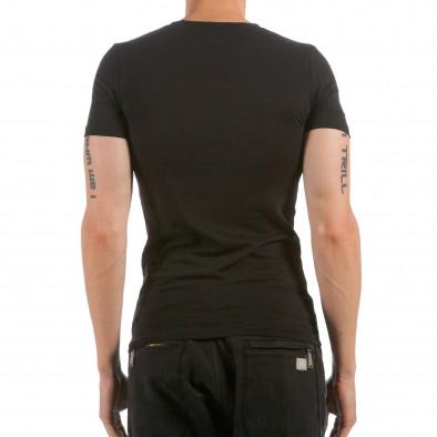 Мъжка черна тениска California 87 Denim Republic 4