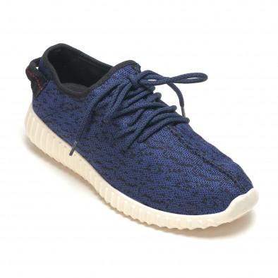 Сини мъжки маратонки с уникално готин дизайн it210416-12 3