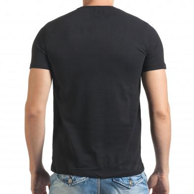 Мъжка черна тениска с надпис Just Relax 4
