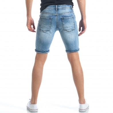 Мъжки къси дънки с малки скъсвания it190417-59 3