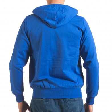 Светло син мъжки суичър с цип отпред it250416-97 3