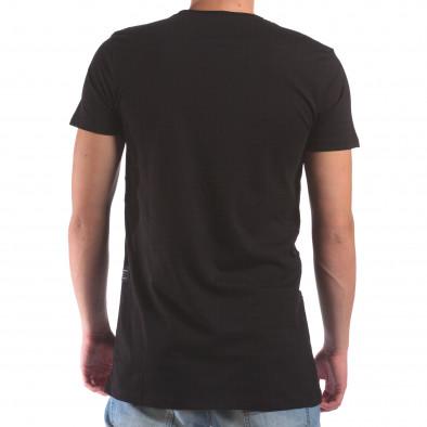 Мъжка черна тениска с череп от камъни il210616-22 3