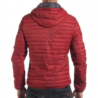 Мъжко червено пролетно-есенно яке с хоризонтални шевове it190616-12 3