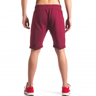 Тъмно червени мъжки шорти за спорт New Men 5