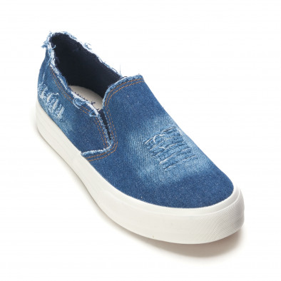 Мъжки сини дънкови кецове slip on it090616-14 3