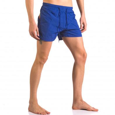 Мъжки сини бански шорти с джобове ca050416-5 4