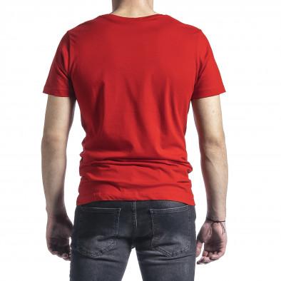 Мъжка червена тениска My Story tr270221-44 3