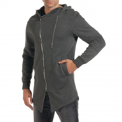 Мъжки сив суичър с асиметрична кройка it200916-1 4
