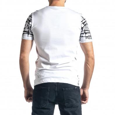 Мъжка тениска Raster в бяло tr010221-17 3