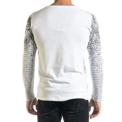 Мъжка бяла блуза с принт tr020920-46 3