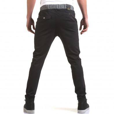 Мъжки синьо-сив панталон с контрастен ластик it090216-30 3