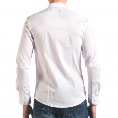 Бяла мъжка риза с асиметрично закопчаване it250416-98 3