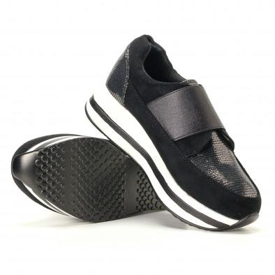 Дамски черни маратонки със сребристи части it200917-28 4
