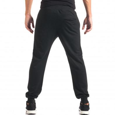 Мъжко черно долнище с номер it160816-30 3