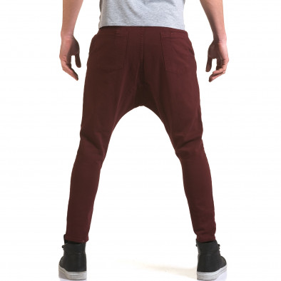 Мъжки червени дънки с кройка на потури it090216-21 3