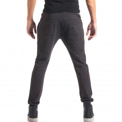 Мъжки синьо-сив спортен панталон с копчета it150816-21 3
