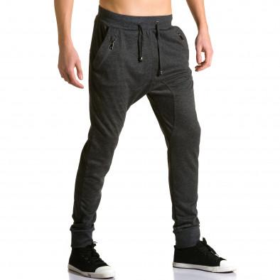 Мъжки черни потури с ципове до джобовете ca190116-19 4