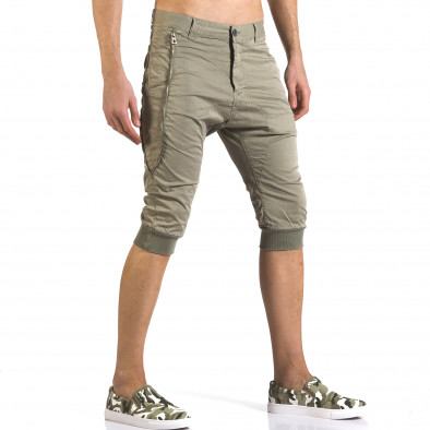 Мъжки зелени къси панталони тип потури it110316-52 4