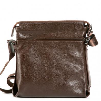 Чанта през рамо с голям външен джоб 9077-1-brown 3