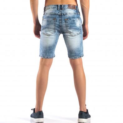 Мъжки къси дънки със скъсвания it160616-16 3