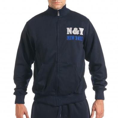 Мъжки син спортен комплект с релефен надпис N&Y it160916-79 4