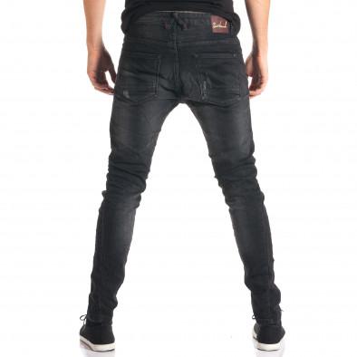 Мъжки тъмно сиви дънки с допълнителни шевове tsf210916-11 3