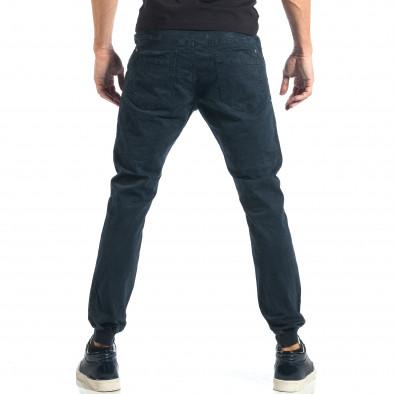 Мъжки сиво-син панталон с еластични маншети на крачолите it260917-52 3