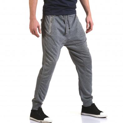 Мъжки светло сиви потури с ципове на джобовете it090216-37 4