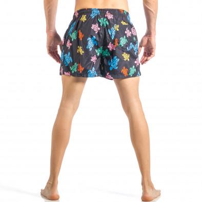 Мъжки черен бански на цветни костенурки it040518-105 4