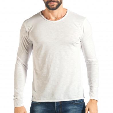 Мъжка бяла блуза изчистен модел it301017-96 2