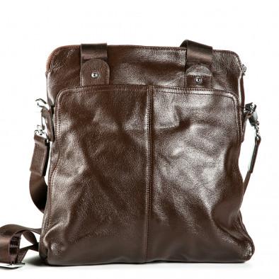 Мъжка чанта с универсално приложение 1182-brown 2
