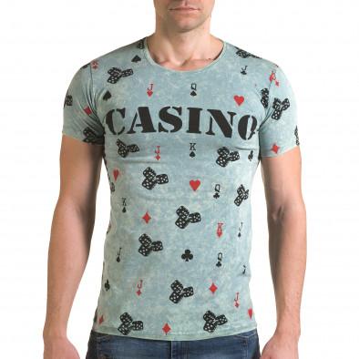 Мъжка зелена тениска Casino Lagos 4