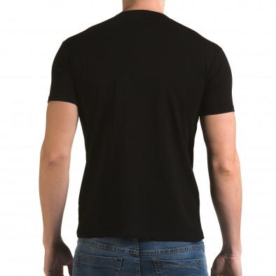 Мъжка черна тениска с номер 4 Lagos 4