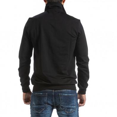Мъжки черен суичър с цип tr070921-45 3
